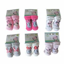 Minnie-Socken 0 bis 6 Monate und 6 bis 12 Monate