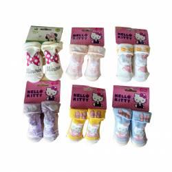 Chaussettes Hello Kitty 0 à 6 mois et 6 à 12 mois