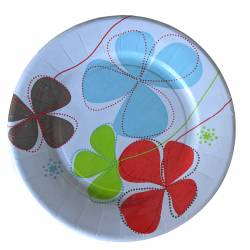 Pack of 10 disposable paper plates 28cm