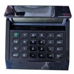 Calculatrice de bureau solaire Noir