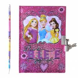 Disney Princess Secret Notebook with Pencil