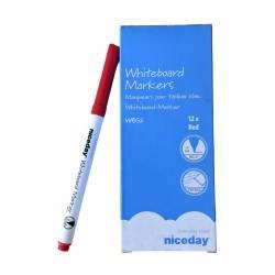 Marqueur pour tableau blanc Niceday Rouge - Boite de 12