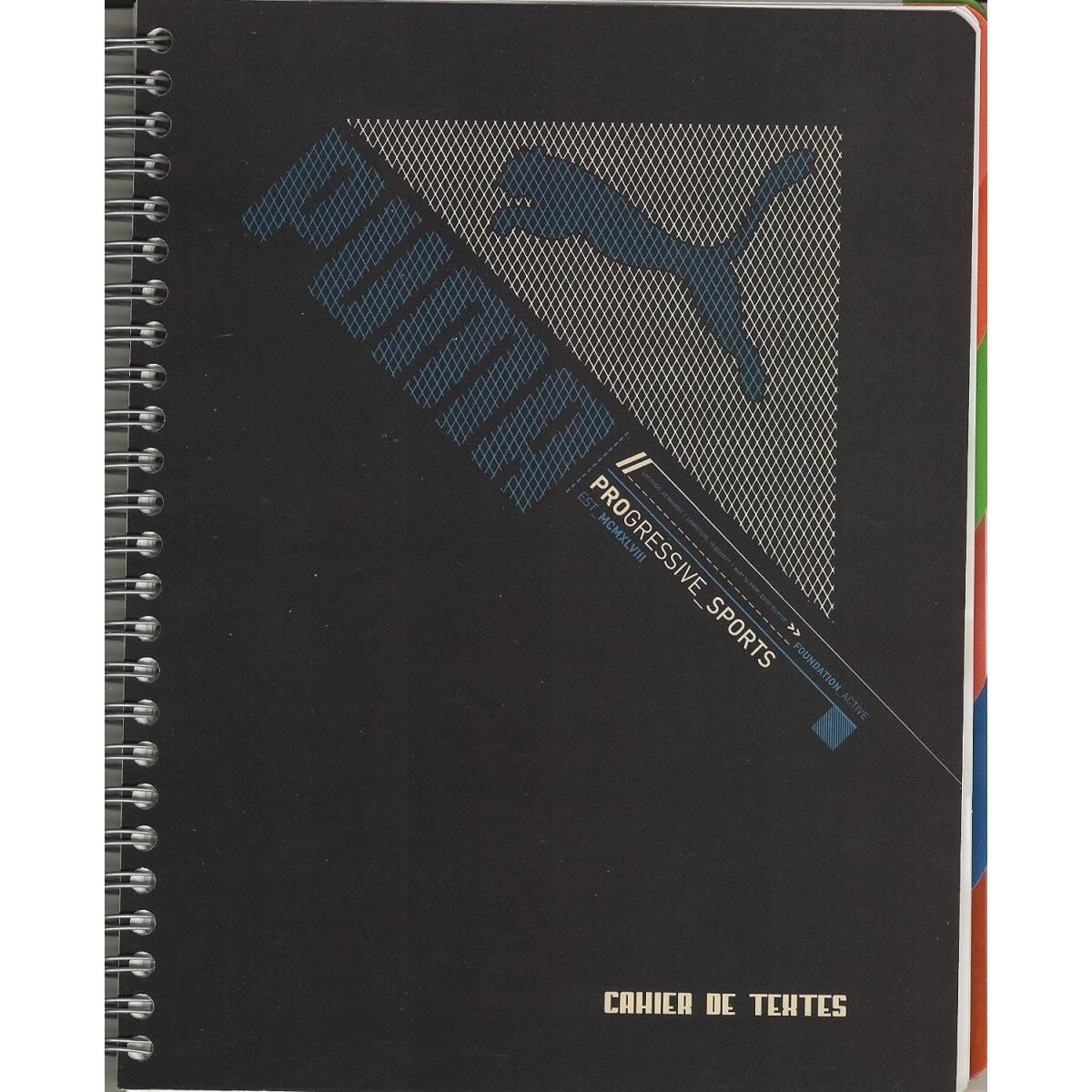 Cahier de textes Puma Bleu - Reliure spirale