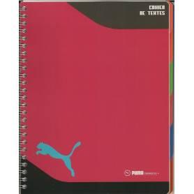 Cahier de textes Puma Rouge - Reliure spirale