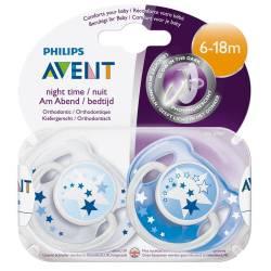 Chupetes de noche Philips Avent 6-18 meses azul