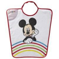 """Mickey Mouse - Bavoir Maternelle Arc en ciel 2éme Age """"Je m'Appelle"""" - 35 x 38 cm"""
