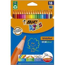 BIC KIDS - Etui de 18 Crayons de Couleurs Evolution