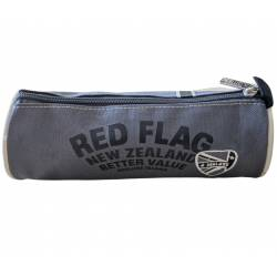 """DEELUXE 74 - Trousse ronde """"Red Flag"""" - Gris"""