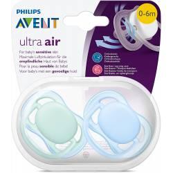Sucettes Avent Ultra Air Bleu 0-6 mois