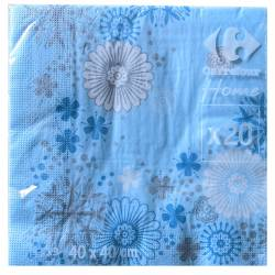 Set of 20 towels Blue 40 x 40 cm