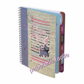 "Cahier de textes CHIPIE Days ""Denim"" à Spirale"