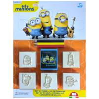 Kit de Tampons Les Minions 3 Crayons de couleurs