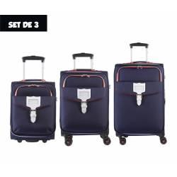 Set of 3 Cases Tann's Hossegor Navy Blue