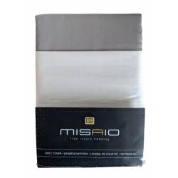 Housse de couette Misaio 240 x 220 cm Rayure Bleu Gris