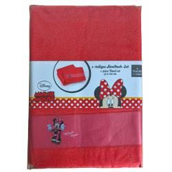 Serviette de Bain Minnie Mouse x2 50 x 100 cm