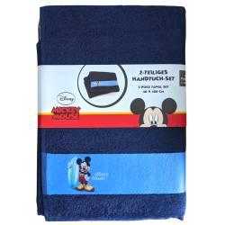 Serviette Mickey Mouse de toilette 50 x 100 cm Lot de 2 - 100% coton