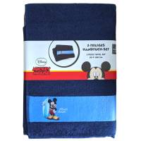 Serviette Mickey Mouse de toilette 50 x 100 cm Lot de 2 - 100% coton