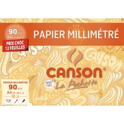 Papier Millimétré Canson 12 Feuilles A4