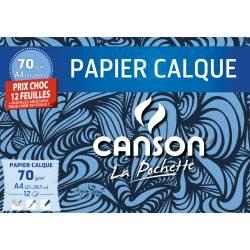Papier Calque Canson 12 Feuilles A4
