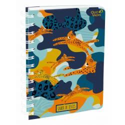 Cahier de textes à spirale 15 x 21 cm Quo Vadis Jungle Imaginaire