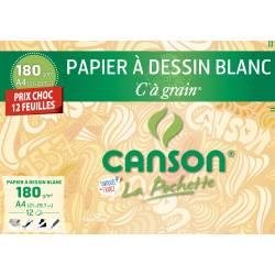 Papier à dessin Blanc CANSON C à grain A4