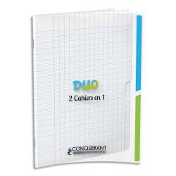 2 cahier en 1 Conquerant Classique DUO 24 x 32 cm