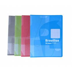 Pack of 10 Draft Notebooks Auchan 17 x 22 cm 96p