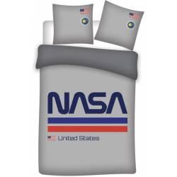 Housse de couette NASA Gris 140 x 200 cm + taie d'oreiller