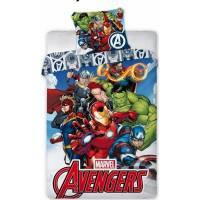 Housse de couette Marvel Avengers 140 x 200 cm + taie d'oreiller
