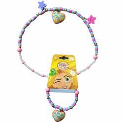 Braccialetto e collana della principessa Disney Rapunzel