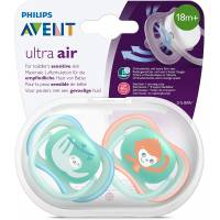 Sucettes Avent Ultra Air 18 mois + Animal