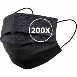 50 pcs Disposable 3 Ply Face Masks with Filter, General/Civilian Use One-Size, Fits All