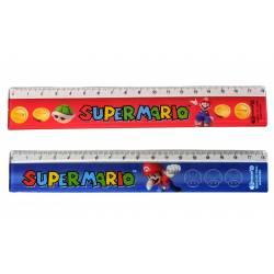 Plastic ruler Super Mario 18 cm
