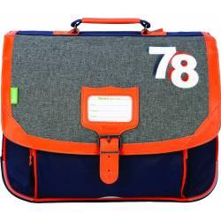 Cartable Tann's 38 cm Lucas Chiné Orange