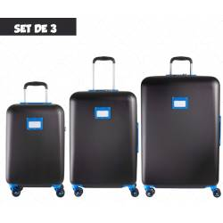 Set of 3 Suitcases Tann's Pondichey Black