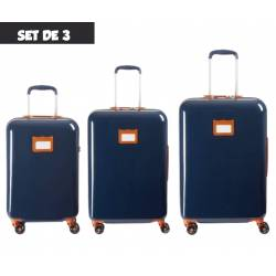 Satz von 3 Tann's Ouessant Blau Koffer