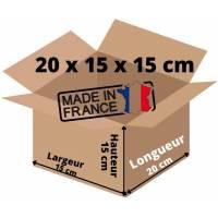 Carton d'expedition Simple Cannelure 20 x 15 x 15 cm Pour vos Petits Envois (10)