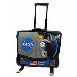 Cartable à Roulettes NASA 41 cm 2 Compartiments