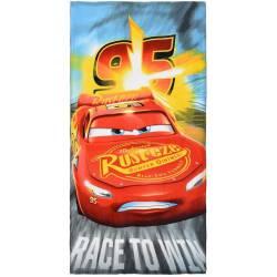 Beach Towel Cars Race to Win 140 x 70 cm
