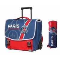 Paris Saint Germain Rolling Binder + Pencil Case Pack