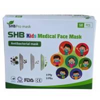 50 masques jetables pour enfants bleu