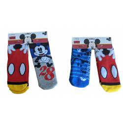 Pack de 2 Chaussettes Antidérapante Mickey Mouse