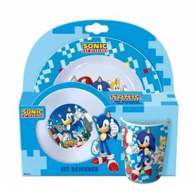 SONIC The Hedgehog Set 3 Pieces Melamine