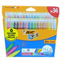 Bic Kids 36 colored markers + 6 fluorescent markers