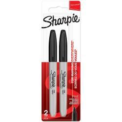 2 Marqueurs Permanent Sharpie Pointe Fine Noir