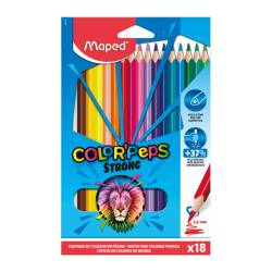 18 Crayons de Couleur en Résine Color'Peps Strong