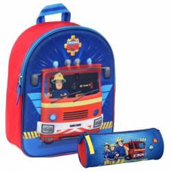Pack Sac 3D Sam le Pompier + Trousse