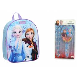 Snow Queen 3D Backpack + Hairbrush Pack