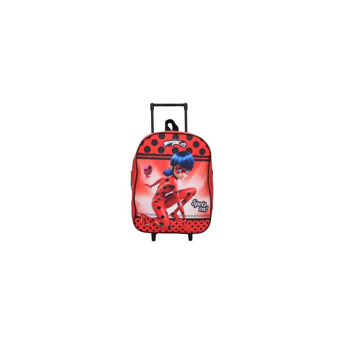 Miraculous Voilà Ladybug wheeled backpack 35 cm