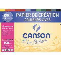 12 Canson Kreativ-Papiere Lebendige Farben A4